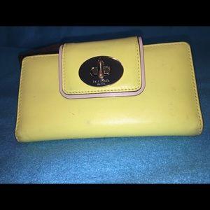 Kate Spade's Cowhide Leather Turn Lock Wallet